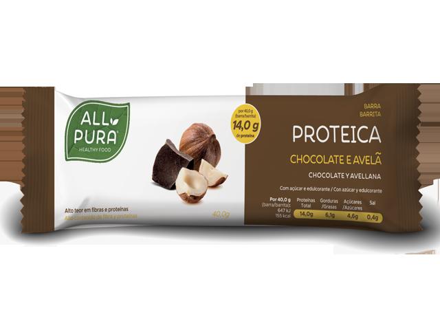 ALLPURA BARRA PROTEICA | CHOCOLATE E AVELA 40g