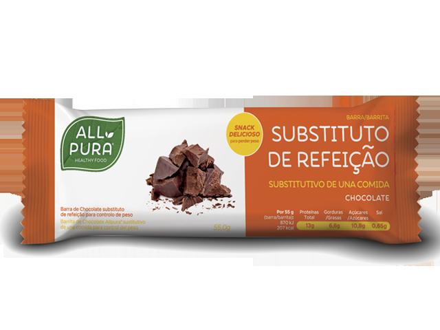 ALLPURA BARRA SUBSTITUTA DE REFEICAO | CHOCOLATE 55g