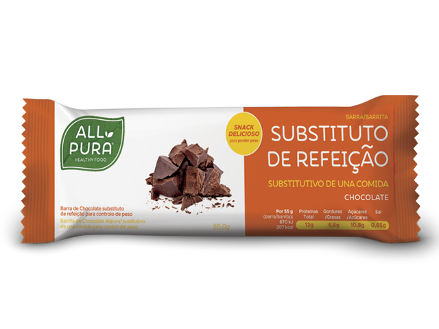 ALLPURA BARRA SUBSTITUTA DE REFEICAO | CHOCOLATE 55g